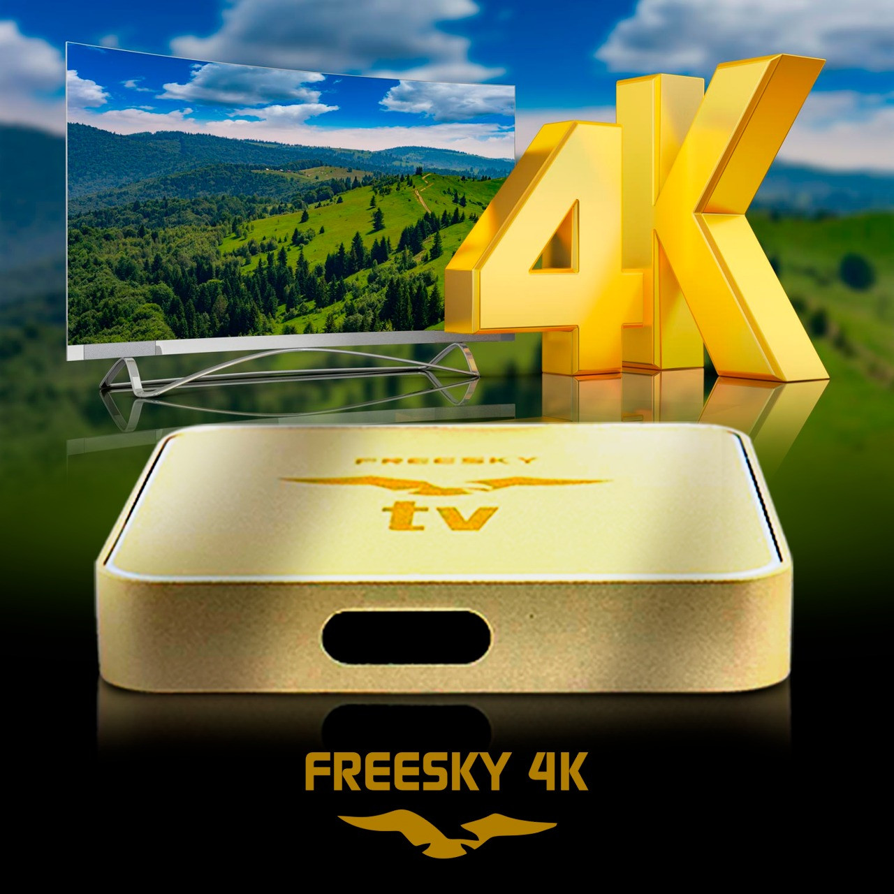 Receptor Freesky TV 4K Ultra HD IPTV