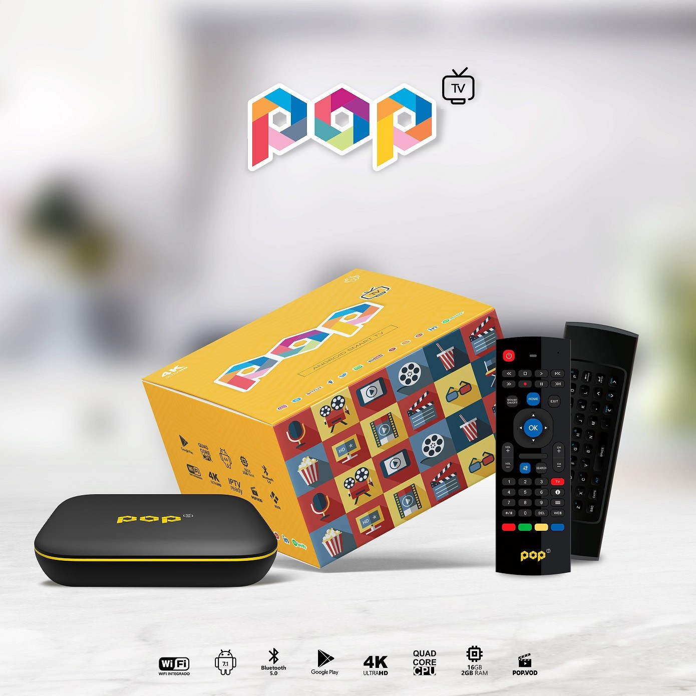 Receptor Pop Android Smart 4K IPTV