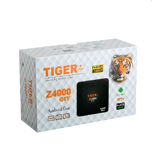 Receptor Tiger Z4000 OTT Android 4.4 TV BOX Amlogic S805 CPU 4.0 Bluetooth H.265